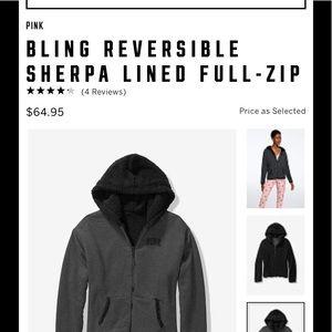 new large bling vs  pink reversible full zip